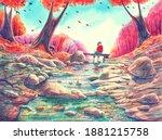 Watercolor Nature Landscape...