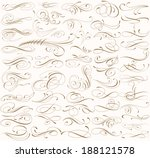 big set of 55 swirly lines | Shutterstock .eps vector #188121578