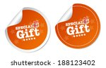 special gift stickers | Shutterstock .eps vector #188123402