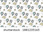 geography seamless pattern on... | Shutterstock .eps vector #1881235165