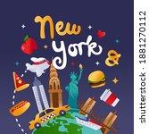 a cartoon vector illustration... | Shutterstock .eps vector #1881270112