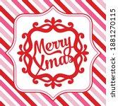 a vector illustration of merry... | Shutterstock .eps vector #1881270115