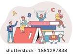 book festival poster banner.... | Shutterstock .eps vector #1881297838