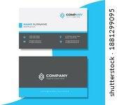 corporate name card design... | Shutterstock .eps vector #1881299095
