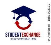 student exchange vector logo... | Shutterstock .eps vector #1881303112