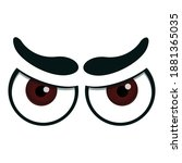 angry eyes icon. cartoon of... | Shutterstock .eps vector #1881365035
