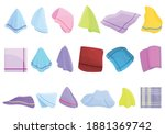 Handkerchief Icons Set. Cartoon ...
