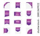 promo badges set. online...   Shutterstock .eps vector #1881369922