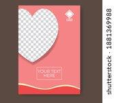 pink background poster design.... | Shutterstock .eps vector #1881369988