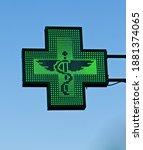 Green Cross Pharmacy Store Sign ...