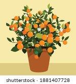 vietnamese tet holiday lucky...   Shutterstock .eps vector #1881407728