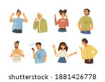 angry people person. conflict... | Shutterstock .eps vector #1881426778