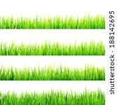 fresh spring green grass... | Shutterstock .eps vector #188142695