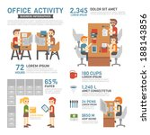 office activity infographics | Shutterstock .eps vector #188143856