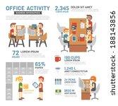 office activity infographics | Shutterstock .eps vector #188143856