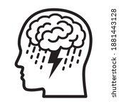 brainstorm or mental illness...   Shutterstock .eps vector #1881443128