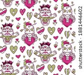 a funny seamless pattern for... | Shutterstock .eps vector #1881446602