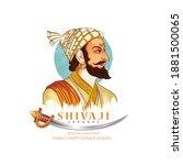 illustration of chatrapati...   Shutterstock .eps vector #1881500065