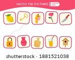 matching children educational... | Shutterstock .eps vector #1881521038