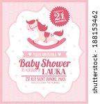 rocking horse baby girl shower... | Shutterstock .eps vector #188153462