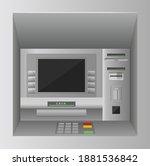 atm bank cash machine 3d vector ... | Shutterstock .eps vector #1881536842