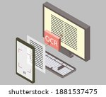 optical character recognition ... | Shutterstock .eps vector #1881537475