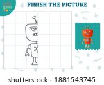 complete the picture vector... | Shutterstock .eps vector #1881543745