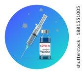 vaccine against the coronavirus ... | Shutterstock .eps vector #1881551005