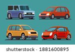 car collection. auto side view... | Shutterstock .eps vector #1881600895