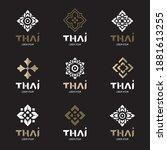 thai concept logo design vector ... | Shutterstock .eps vector #1881613255