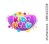 kids title event vector icon... | Shutterstock .eps vector #1881622228