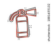 extinguisher icon in comic... | Shutterstock .eps vector #1881655132