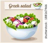 Detailed Icon. Greek Salad.