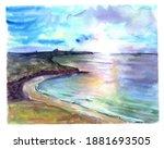 Watercolor Irish Scenery...