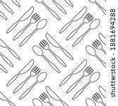 vector food seamless pattern...   Shutterstock .eps vector #1881694288