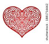 Vector Heart. Valentine's Day....