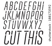 Modern dynamic vector font. Italic type.