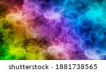 Abstract Rainbow Colors Fractal ...