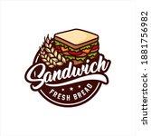 sandwich fresh bread vector... | Shutterstock .eps vector #1881756982