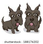 vector illustration of cute... | Shutterstock .eps vector #188176202