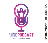 awesome detailed podcast logo...   Shutterstock .eps vector #1881800422