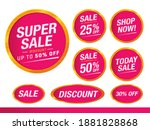 sale and special offer tag ... | Shutterstock .eps vector #1881828868