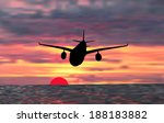 illustration with plane at... | Shutterstock .eps vector #188183882