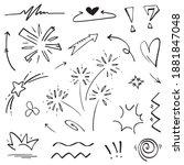 hand drawn set elements ... | Shutterstock .eps vector #1881847048