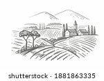 vector vintage hand drawn... | Shutterstock .eps vector #1881863335