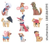 cute dogs of different breeds... | Shutterstock .eps vector #1881864595