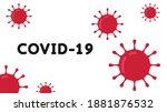 covid 19 poster. bacteria... | Shutterstock .eps vector #1881876532