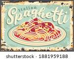 italian spaghetti vintage... | Shutterstock .eps vector #1881959188