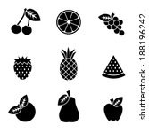 simple black and white vector... | Shutterstock .eps vector #188196242