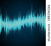 blue wave digital equalizer.... | Shutterstock .eps vector #188196266